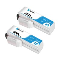 BetaFPV - Lot de 2 batteries 4S 450mAh 75C XT30