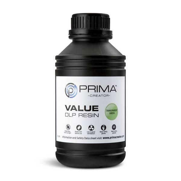 STANDARD UV DLP Resin TRANSPARENT GREEN 500ml - PrimaCreator