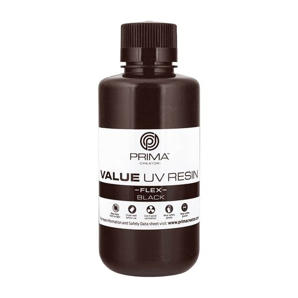 Flex UV DLP Resin BLACK 500ml - PrimaCreator