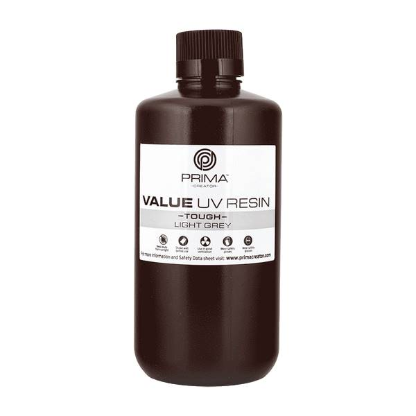 TOUGH UV DLP Resin LIGHT GREY 1000ml - PrimaCreator