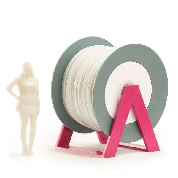 EUMAKERS PLA filament Glitter Silver | White 2.85mm 1000g