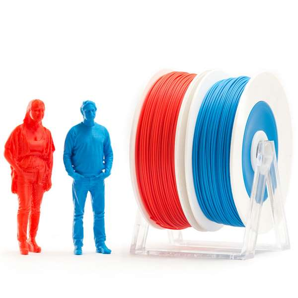 EUMAKERS PLA filament Red Blue 2.85mm 2 x 500g