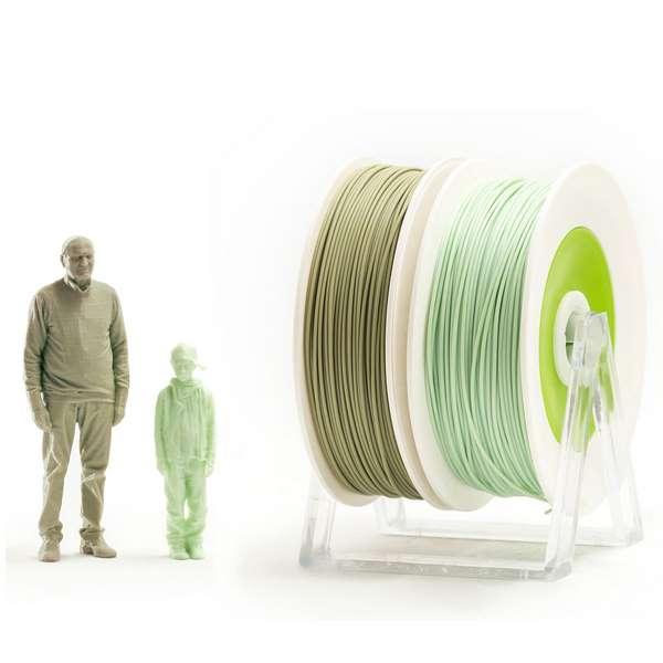 EUMAKERS PLA filament EUBIO/2Life PASTEL GREEN | MILITARY GREEN 2.85mm 2 x 500g