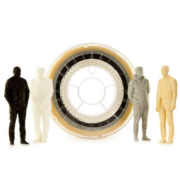 EUMAKERS PLA filament NEUTRAL MULTICOLOR 1.75mm 4 x 250g