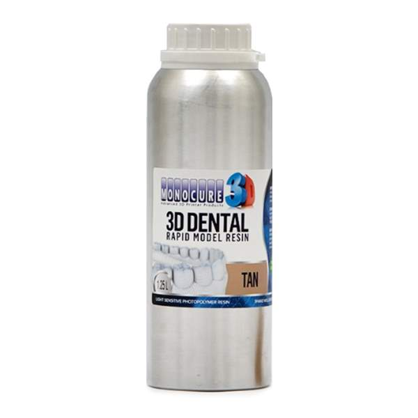 RAPID MODEL DENTAL Resin TAN 1250ml - Monocure3D