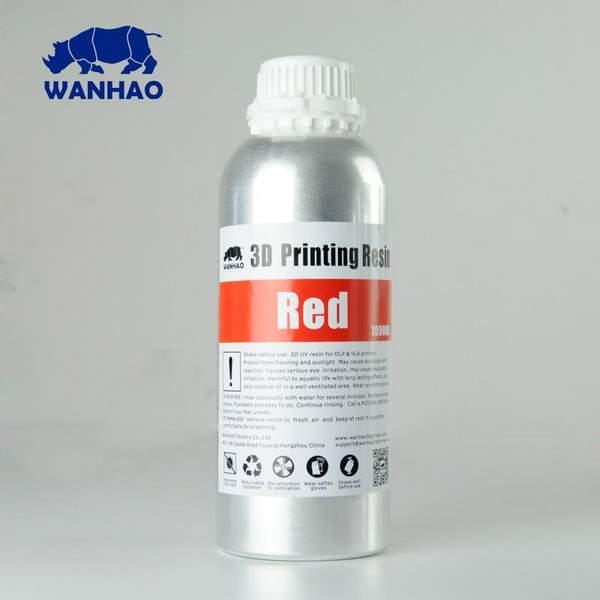 STANDARD UV Resin RED 1000ml - WANHAO