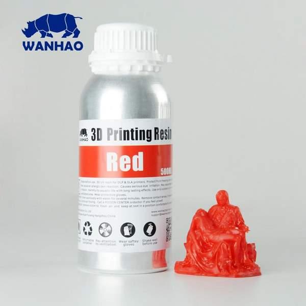 STANDARD UV Resin RED 500ml - WANHAO