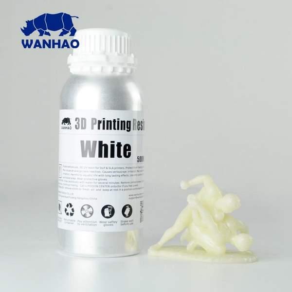 WATER WASHABLE UV Resin WHITE 500ml - WANHAO