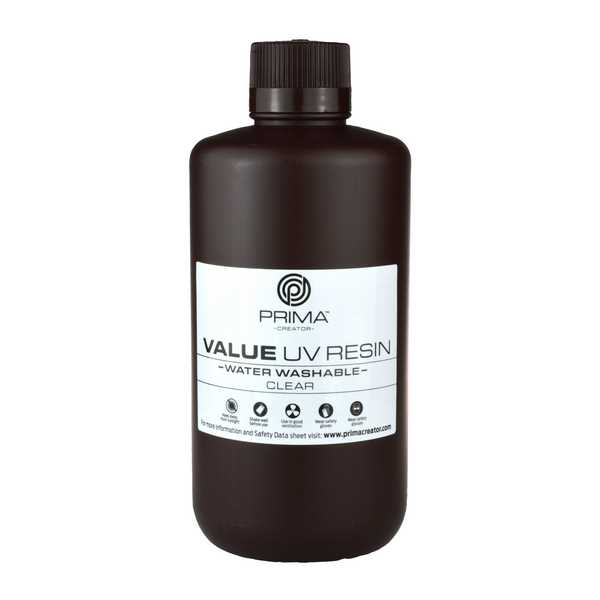 Water Washable UV DLP Resin CLEAR 1000ml - PrimaCreator