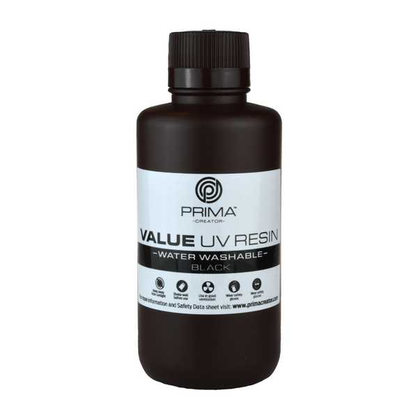 Water Washable UV DLP Resin BLACK 500ml - PrimaCreator