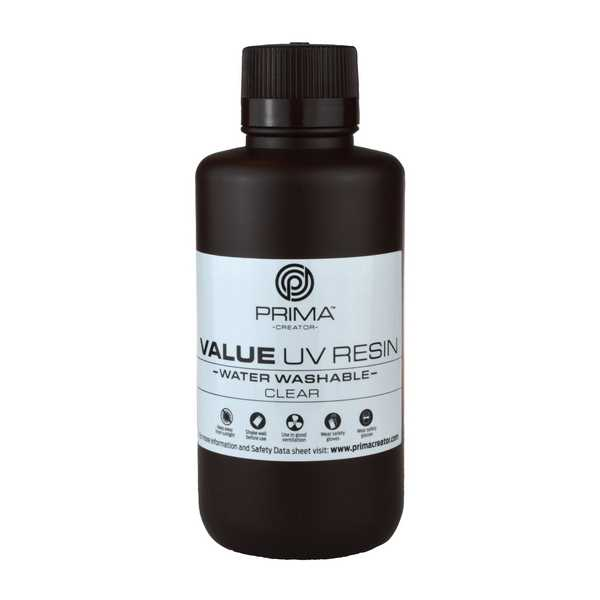 Water Washable UV DLP Resin CLEAR 500ml - PrimaCreator