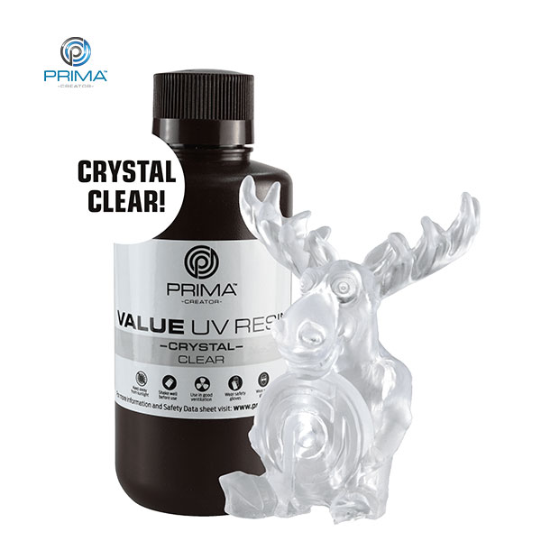 CRYSTAL UV DLP Resin CLEAR 500ml - PrimaCreator