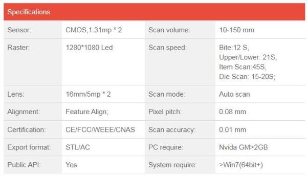 Máy quét 3d răng Thunk3d Dental scanner