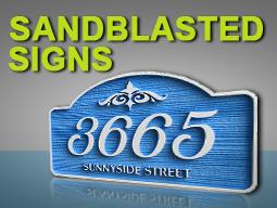 Sandblasted signs