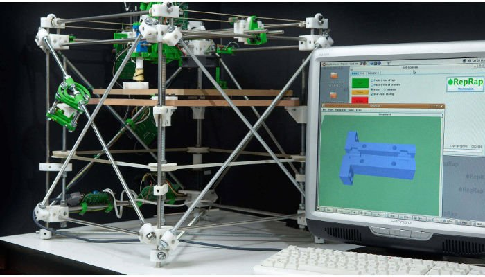 RepRap FDM 3D printer fused deposition modeling