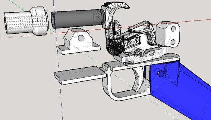 3d printed gun cad file