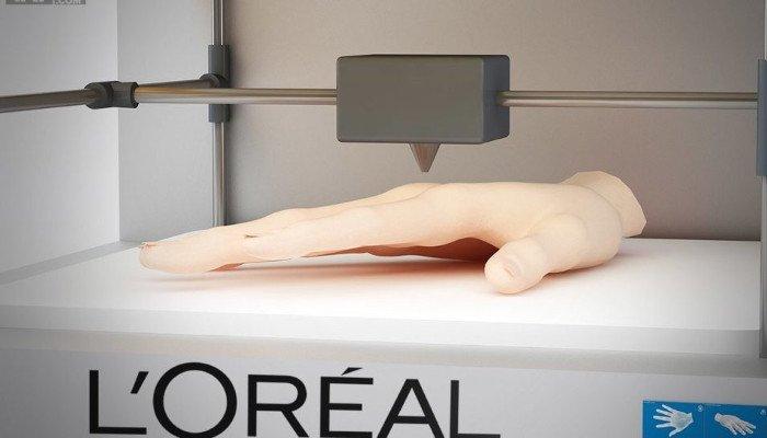 3d printed organs l'oreal skin