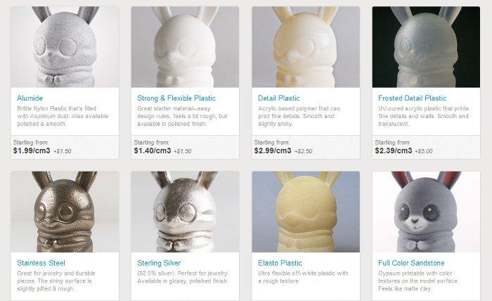 shapeways best online 3d printing service