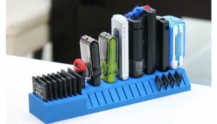 usb stick sd card holder 3d printer model