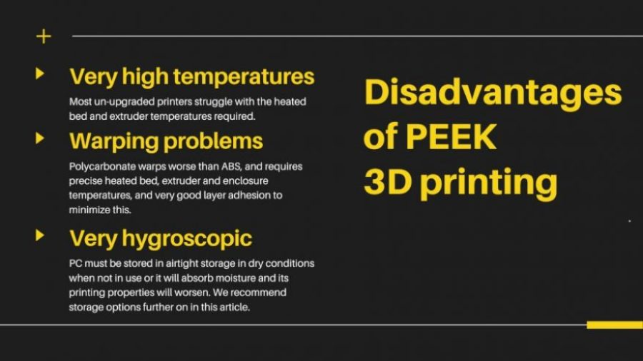 disadvantages of polycarbonate 3D printing pc filament