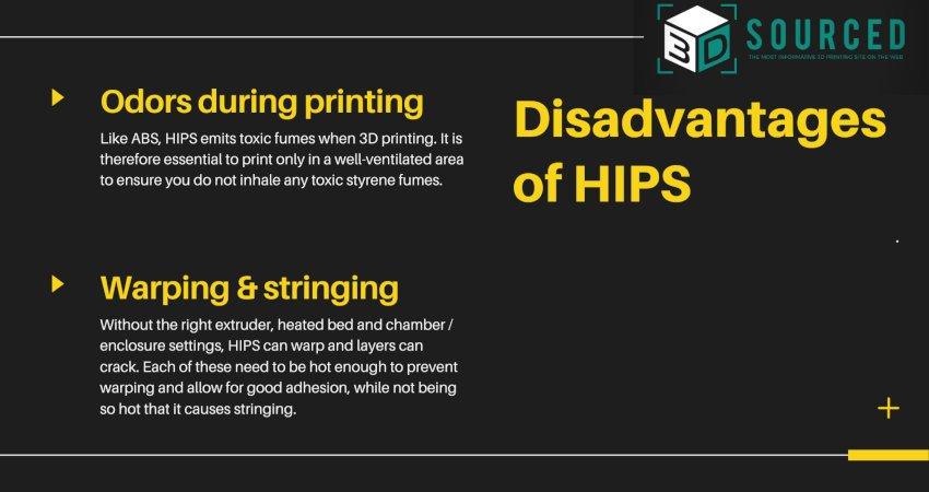 disadvantages of hips filament