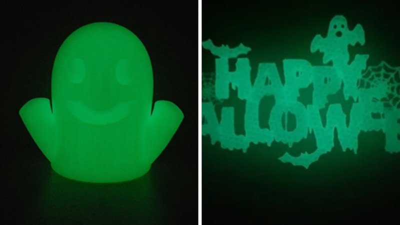 glow in the dark 3d printed halloween decorations
