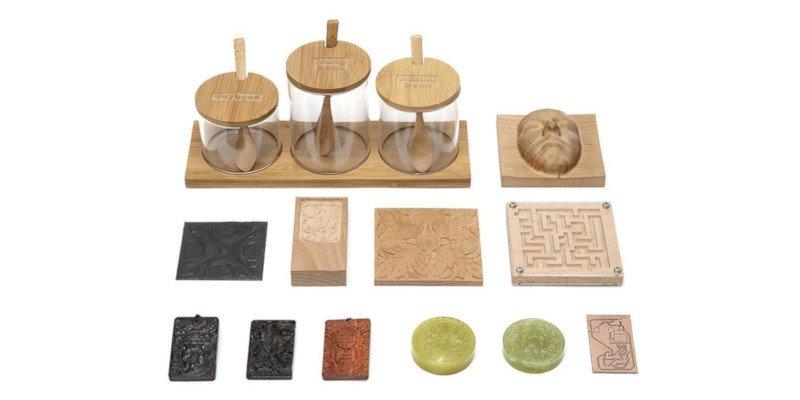 snapmaker original cnc carved wood and plastic models