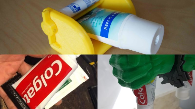 Practical 3D Printed Toothpaste Squeezers for Bathroom