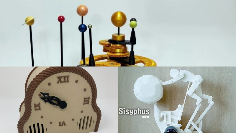 Cool 3D Print Ideas, Clockwork Mechanisms