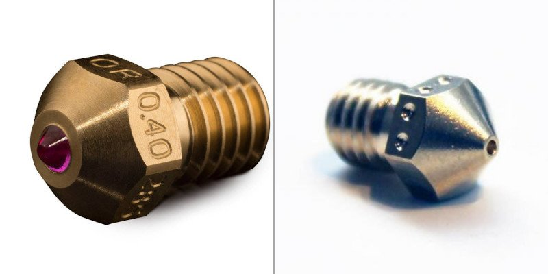 ruby vs hardened steel nozzles for 3d printing carbon fiber