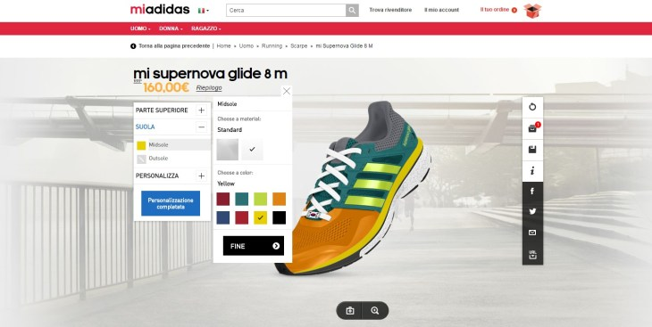 MIADIDAS 3d mass customization