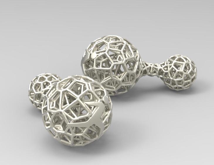 reply gemelli titanio in 3D