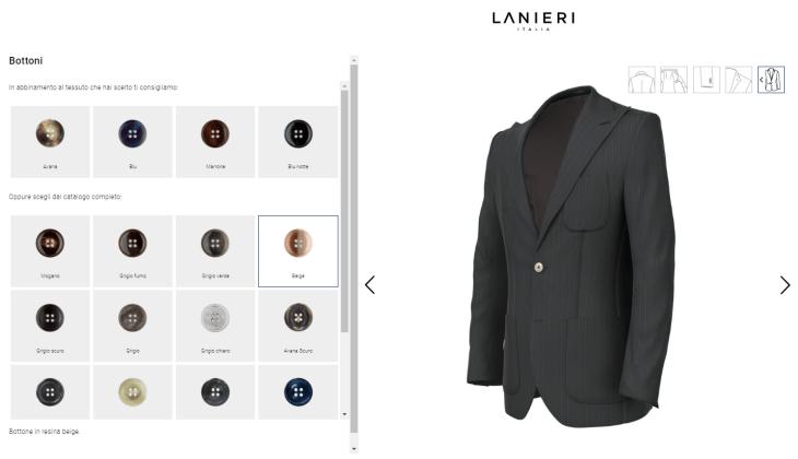 Lanieri 3D Experience - Configuratore 3D Fashion Tech