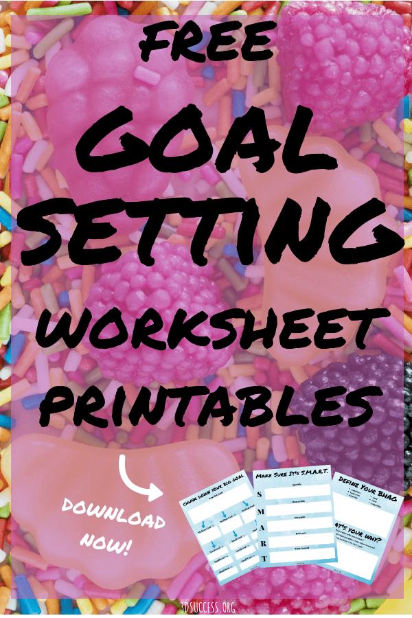 Free Goal Setting Worksheet Printables