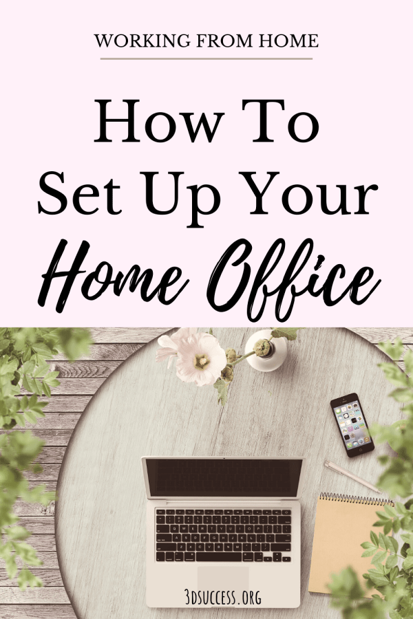 How to Set Up Your Home Office pin