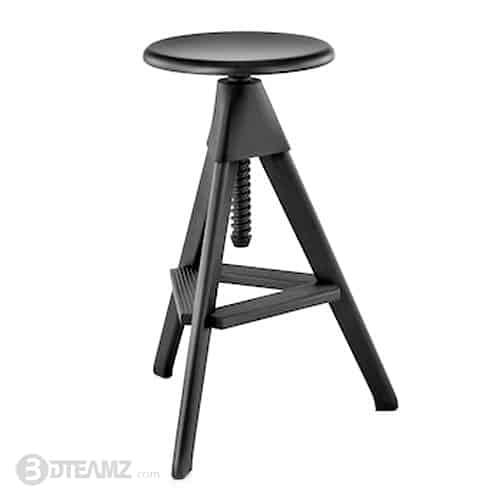Fantastic Hermanmiller Magis Tom And Jerry Stool Black 3D Model Pdpeps Interior Chair Design Pdpepsorg