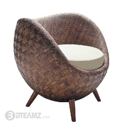 Kenneth Cobonpue La Luna Rattan Chair 3d