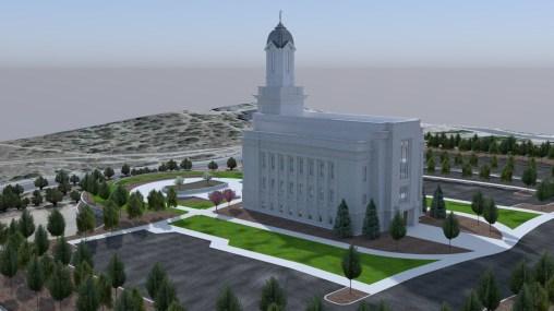 Cedar City Temple render