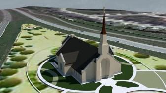 Winnipeg Manitoba Temple Early rEnder