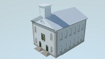Kirtland Ohio Temple early render