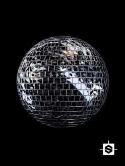 free seamless pbr disco ball texture