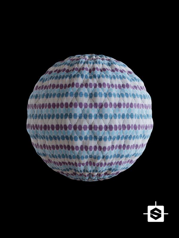 free seamless pbr fabric quilt texture