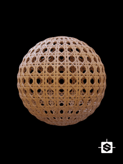free cc0 pbr seamless texture wood wicker rattan furniture substance designer