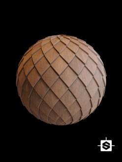 free seamless pbr wood tiles texture