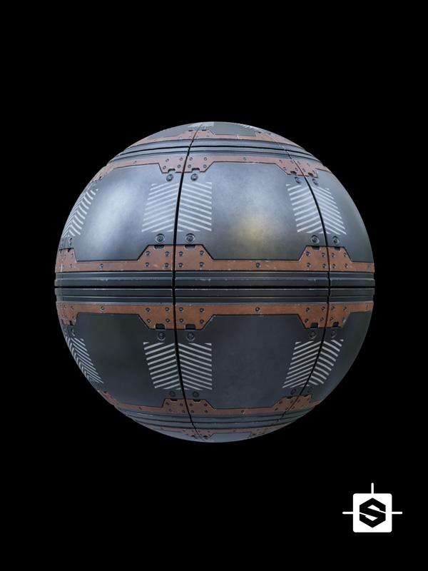 Free seamless pbr sci fi metal plate texture