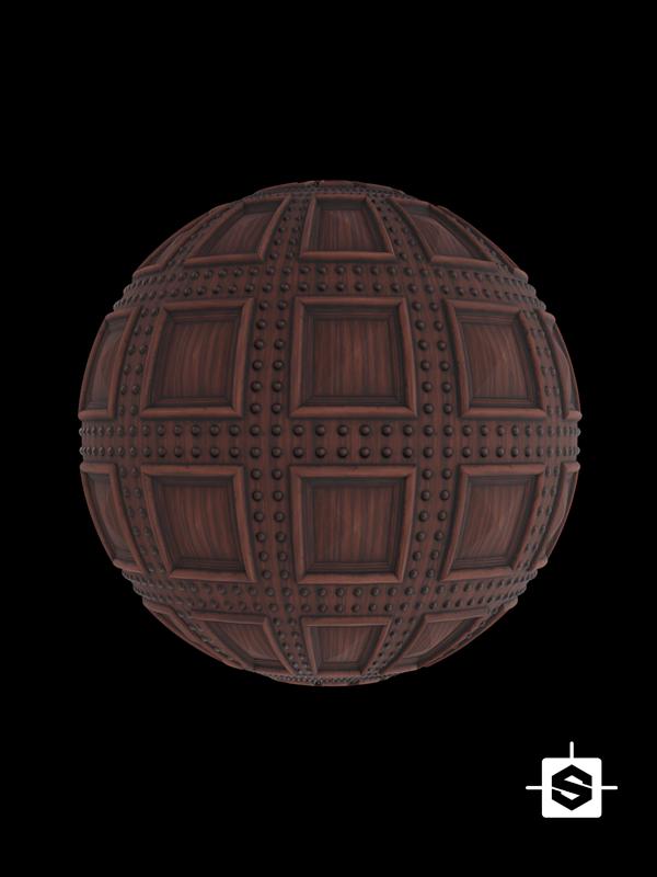 free seamless pbr wood pattern coffers texture