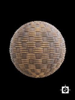 wood wicker furniture weave basket
