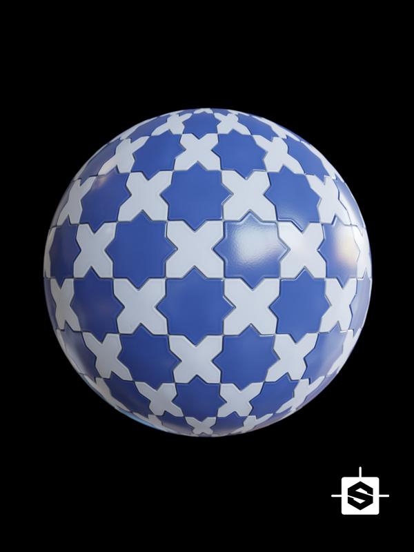 tiles stars crosses ceramic mosaic archviz