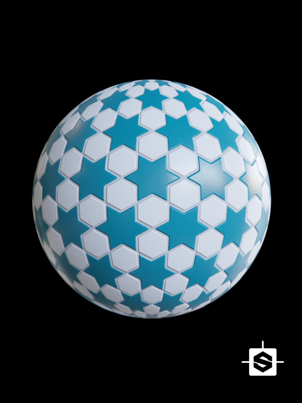 tiles stars hexagons ceramic mosaic archviz