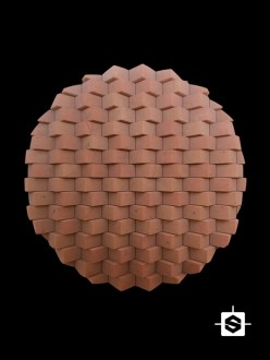 wall terracotta bricks clay